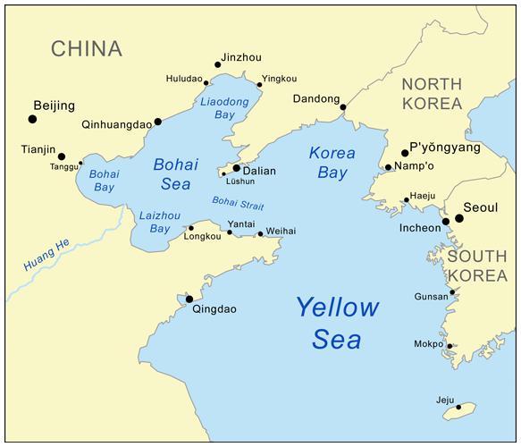 Mar Giallo sulla mappa