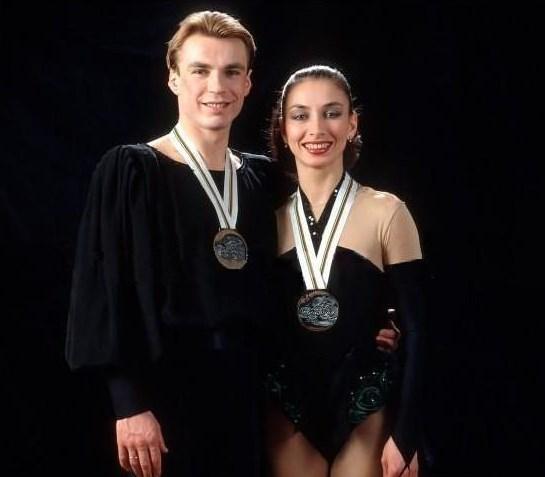 Vincitori d'argento delle Olimpiadi Usov e Zhulin